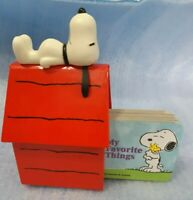 2003 Peanuts SNOOPY Red DOGHOUSE 3 children's mini BOOK SET Charles M Schulz