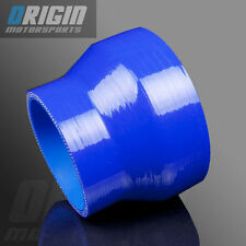 "BLUE 3"" To 4"" TURBO INTERCOOLER SILICONE Straight Reducer Hose Pipe Coupler 3PLY"
