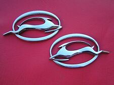 Genuine CHEVROLET IMPALA PAIR LOGO EMBLEMS Chevy Badges *Very Good Condition*
