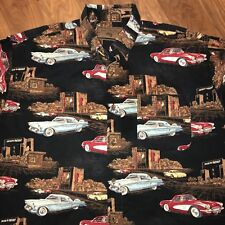 CLEARWATER 1957 Chevy Corvette Ford Thunderbird Car Print vtg L/S Shirt Mens XL