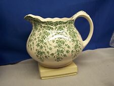 """CROWN DUCAL  """"EARLY ENGLISH IVY=GREEN""""  24 oz. PITCHER"""