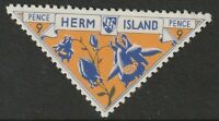 HERM ISLAND 1954 FLOWERS 9 PENCE COMMEMORATIVE STAMP MNH / UNMOUNTED MINT