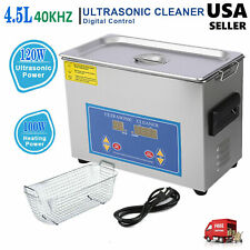 Commercial 4.5L Ultrasonic Cleaner Industry Heated Heater w/Timer JewelryGlasses