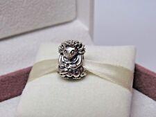 New w/Box Pandora Miss Hedgehog Sterling Silver Charm #791179 RETIRED & RARE
