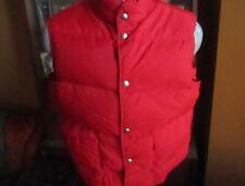 VINTAGE LL Bean Nylon Goose Down Red Puffer Vest Mens Large USA