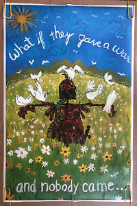 What If They Gave A War And Nobody Came Original Vintage Poster Peace Anti War