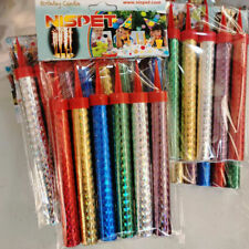 12 pcs Sparkling Candles Birthday Candles Multi Color Bar Party Fireworks Candle