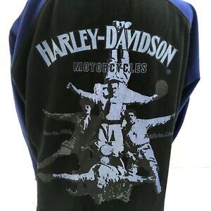 Harley-Davidson Womens Sweatshirt Top XL  1/4 Zip Pullover Trick Stunt Riders