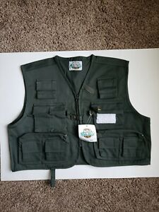 White River Fly Shop Men L Fishing Vest Cargo Cotton Brand New