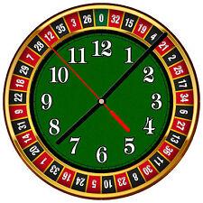 "8"" WALL CLOCK - LAS VEGAS 13 Casino Roulette Gambling Sin City Bar Game Room"