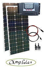 Solarset 200W 12V Solarmodul Wohnmobil Garten 30Ampere Regler Solaranlage XXL