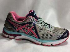 Asics Gel IGS GT 2000 T550N Womens 9 M Shoes Grey Pink Navy Blue Running Sneaker