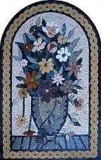 """32"""" Flower Vase Handmade Greek Floral Rope Mural Art Marble Mosaic"""