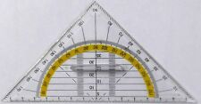 Geometry Set Square Drawing Drafting Triangle Ruler With Grip 0-90-180 degrees