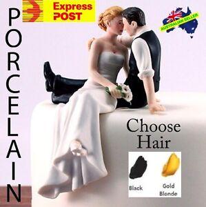 Romantic Look of Love Bride & Groom Wedding Cake Topper PORCELAIN & FAST POST