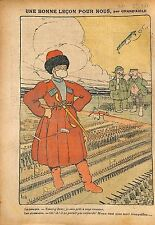 Caricature Cosaque Cossack Imperial Russia Army Russie War WWI 1914 ILLUSTRATION
