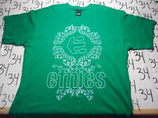 XL- Lightly Cracked Graphics /  Green Etnies Brand  T- Shirt