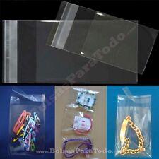 1000 Bolsas PP de 8x12 cm con Solapa Adhesiva (Celofan)
