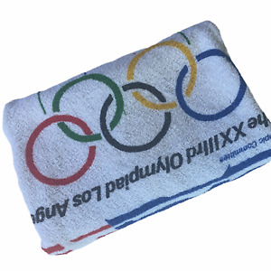 Vintage Rare 1984 Los Angeles OLYMPICS Towel 23rd Olympic Games
