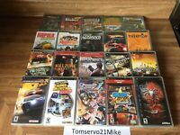 Lot of 20 PSP PlayStation Portable Cases & Some Manuals NO Games!