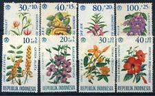 Indonesia 1965-1966 Mi. 499-506 MNH 100% Flowers, Nature