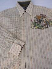 NEW English Laundry Men's Lite Green Cotton Dress Shirt Embroidery Size M