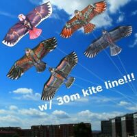 1.1m Huge Eagle Kite single line Animal Kites Kid Outdoor toy with 30m Kite J8I8