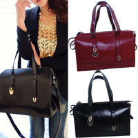Fashion Women Ladies Shoulder Tote Handbag Shopping Weekender PU Material US