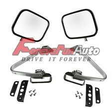 Side View Manual Stainless Mirrors Chrome Pair Set for Ford F-Serie Pickup Truck