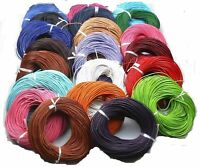 3/10M Genuine Round Leather String Cord For Necklace Bracelet Making Jewelry DIY