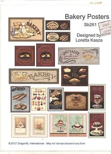 Kit - Bakery Posters Sheet SB261 dollhouse miniature Dragonfly 1/12 scale