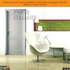 Porta interna rivestita BIANCA LACCATA passaggio 90x210 esterno telaio 97x213