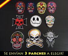Parche Bordado Ropa Costura Adorno Plancha Calavera Skull Punk Metal Regalo
