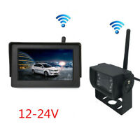 "IR Wireless 18LED Car Reverse Backup Camera + 4.3"" LCD HD Monitor For Autos/Bus"