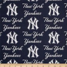 "New York Yankees Navy White Baseball Sports Handmade Valance 56""  x 13"""