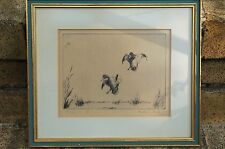 """WALTER BOHL SIGNED ETCHING """"WINGING IN"""" DUCK STAMP ARTIST"""