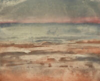 20th Century Aquatint - Abstract Beach Sunset