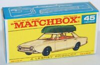 Matchbox Lesney No 45 Ford Corsair with Boat Empty Repro Box style F