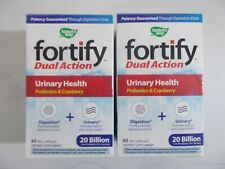 2 Nature's Way Fortify Urinary Health Probiotics With Cranberry Dual Action 60ct