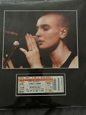 SINEAD O'CONNOR Matted 8x10 Glossy RP & Concert Ticket