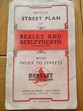BARNETT'S STREET PLAN BEXLEY AND BEXLEYHEATH DISTRICT MAP VINTAGE MAP LONDON