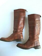 Handmade Brown  Leather N.D.C Riding Boots Women's Size 37.5