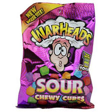 Warheads Sour Chewy Cubes 5Oz Each ( 12 In A Box )