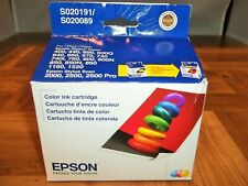 Genuine Epson Color Ink S020191 S020089 for Stylus 400 460 600 670 740 760 NEW