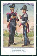 Militari Genio Italiano Sottufficiale Ufficiale Uniformi Besi cartolina XF0318