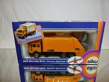 SIKU 2820 MERCEDES BENZ REFUSE TRUCK - YELLOW 1:55 - EXCELLENT IN BOX