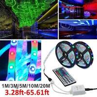 60led/Meter TV Bar Room Party 3528 RGB Strip Light Flexible Remote Fairy Lights