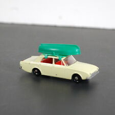 Vintage Matchbox No. 45 Ford Corsair with Green Boat Canoe England Lesney