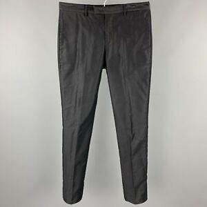 PRADA Size US 32 / IT 48 Navy Cotton Zip Fly Dress Pants