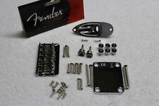 New Fender Hardtail Chrome Stratocaster Body Hardware Set - Strat 0060068000